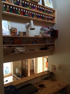 階段の踊り場を中2階の書斎なら筑紫野市が得意なベストホーム