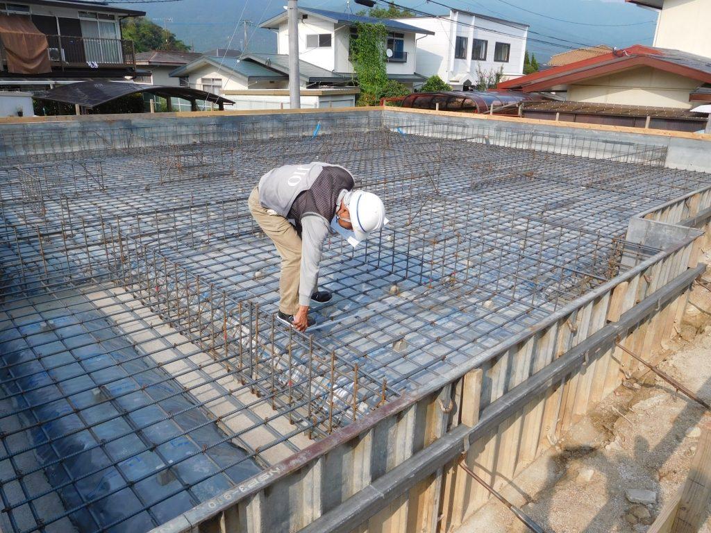 基礎工事 配筋検査 長期優良住宅のベストホーム