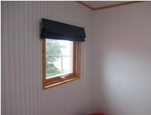 スウェーデンクロスがカワイイ寝室