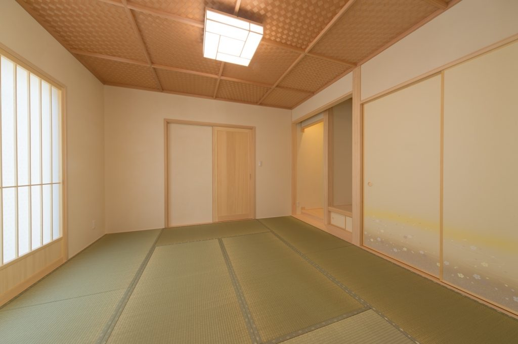 網代天井が美しい和室