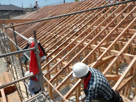 福岡の注文住宅 平屋の屋根工事