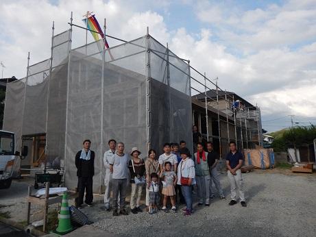 上棟式の家族写真|福岡のベストホーム