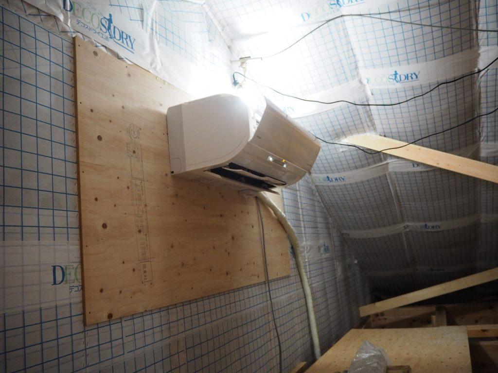 屋根裏エアコン1台で省エネルギー